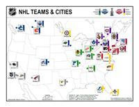 NHL Teams & Cities Map
